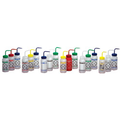 Bottle, wash, distilled water, labeled, 1000ml
