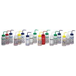 Bottle, wash, set of 4, labeled,1000ml