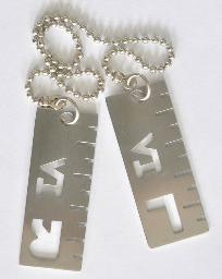 X RAY MARKERS,SET OF 2