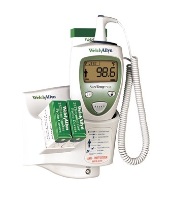 THERMOMETER, SURETEMP W/9FT CORD, WALL MNT, W/ROLL STND, ORAL PROBE, SPR STAND HLDR, EA