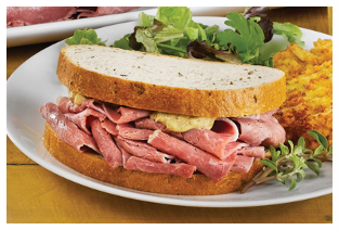 St. Patrick's Day food, corned beef sandwich