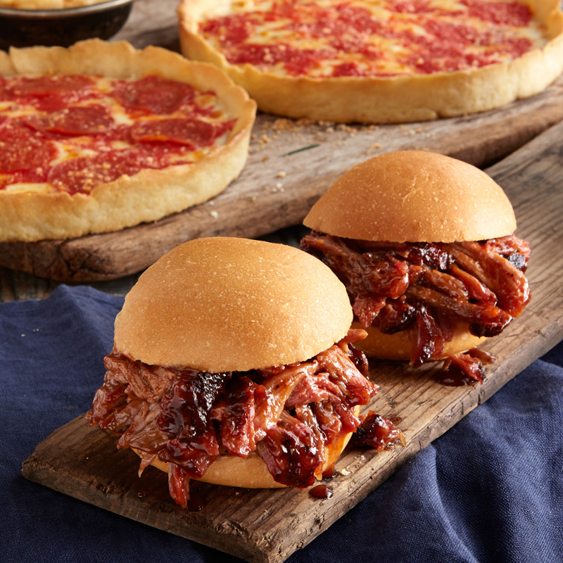 Real Urban BBQ Pulled Pork Kit & 2 Lou's Pizzas