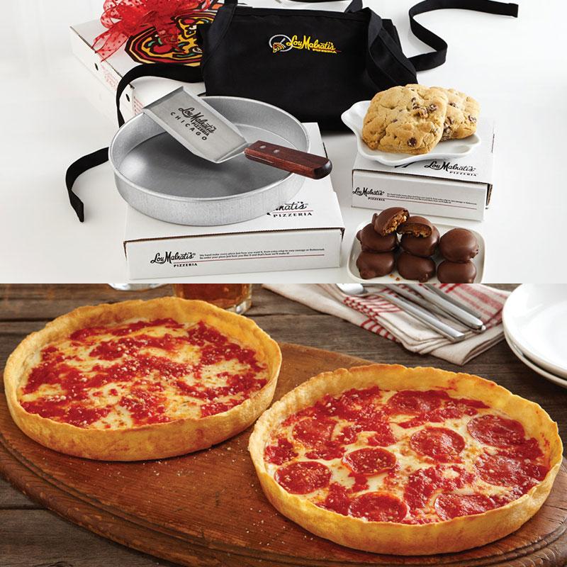 Lou Malnati's Gift Box Tower & 2 Pizzas