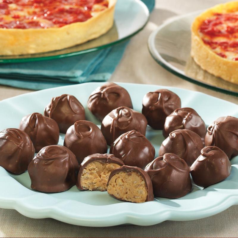 Kay's Peanut Butter Crunch Balls & 2 Lou's Pizzas