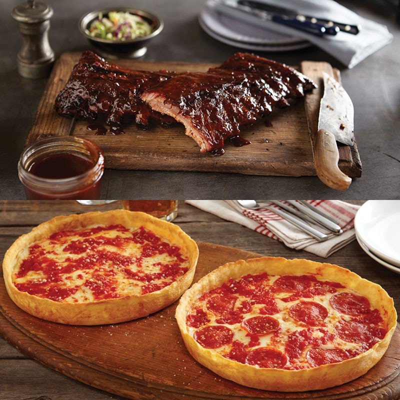 Real Urban BBQ Baby Back Ribs & 2 Lou's Pizzas