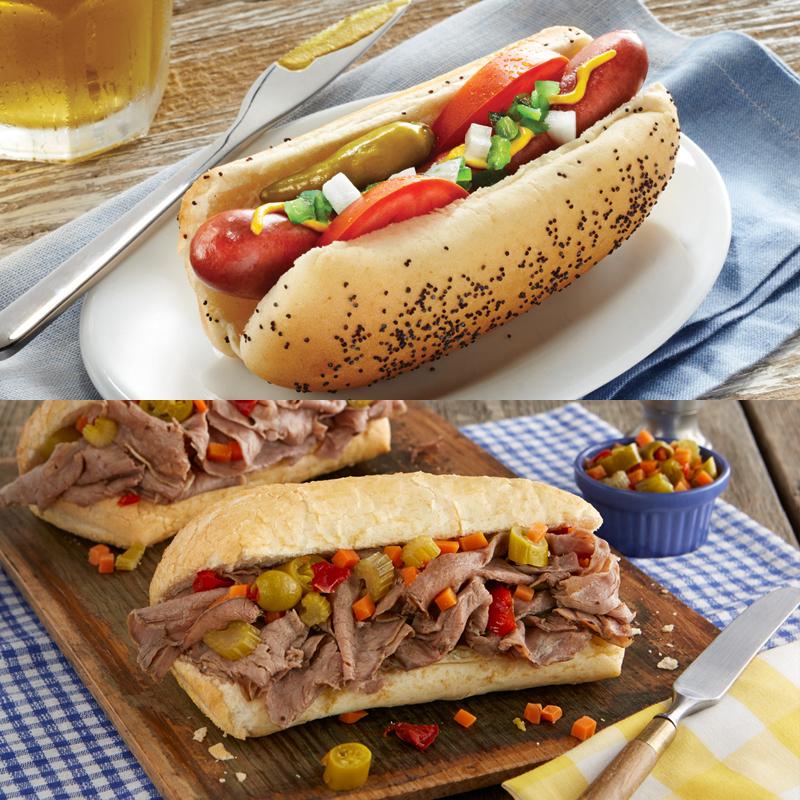 Vienna Beef Hot Dog Kit & Italian Beef Kit Combo