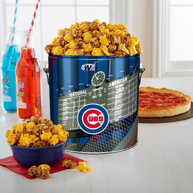 Garrett Popcorn Chicago Cubs Classic Tin & 2 Lou's Pizzas
