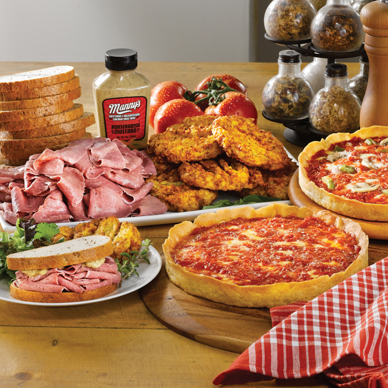 Manny's Corned Beef Kit & 2 Lou's Pizzas