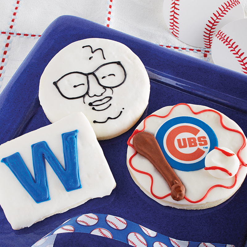 Deerfields Bakery Chicago Cubs Cookie Trio Add-on