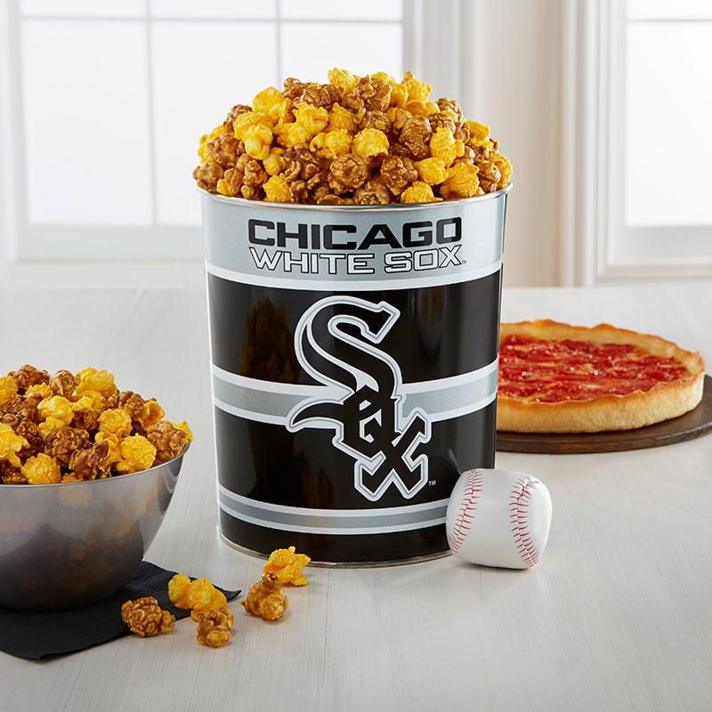 Garrett Popcorn Chicago White Sox Classic Tin & 2 Lou's Pizzas