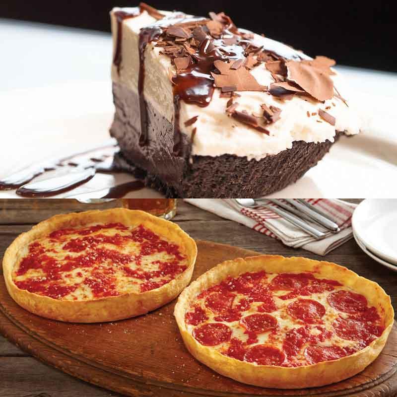 Wildfire Chocolate Cream Pie & 2 Lou's Pizzas
