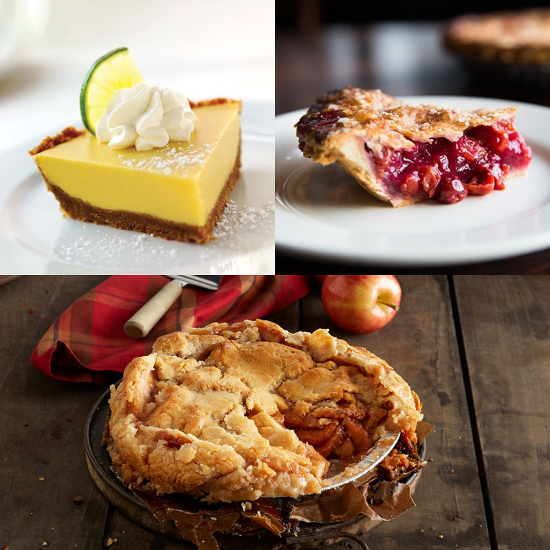 Wildfire Door County Cherry Pie & Key Lime Pie & Long Grove Apple Pie