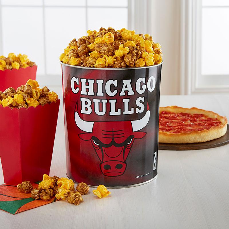 Garrett Popcorn Chicago Bulls Classic Tin & 2 Lou's Pizzas