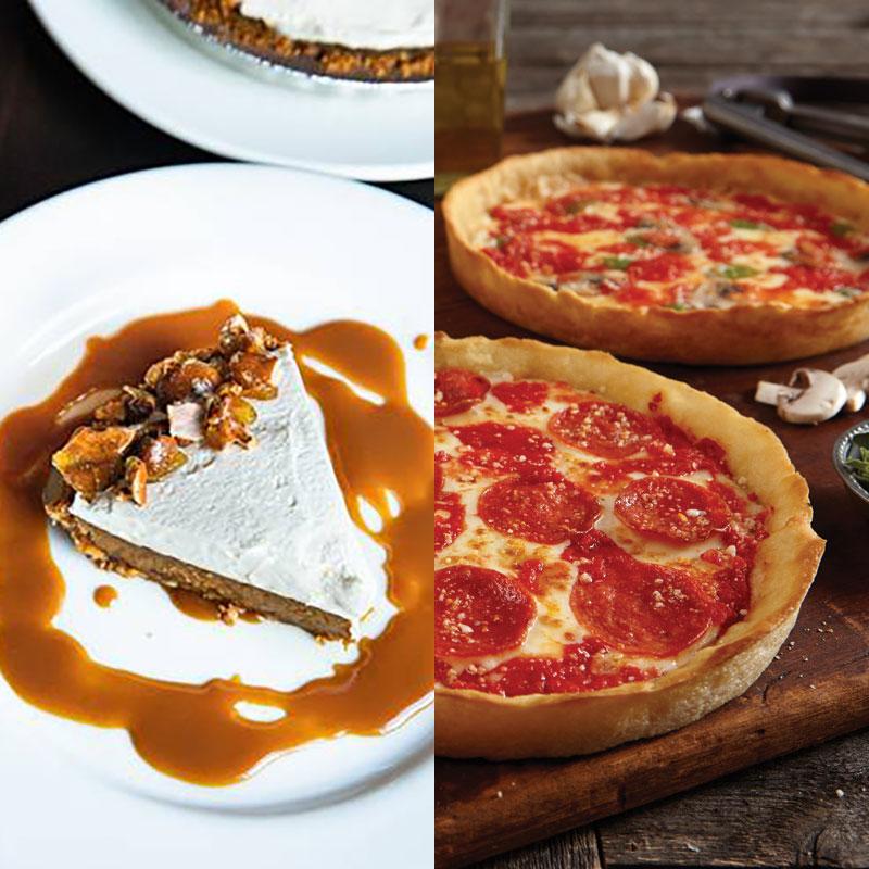Wildfire Caramel Crunch Pie & 2 Lou's Pizzas