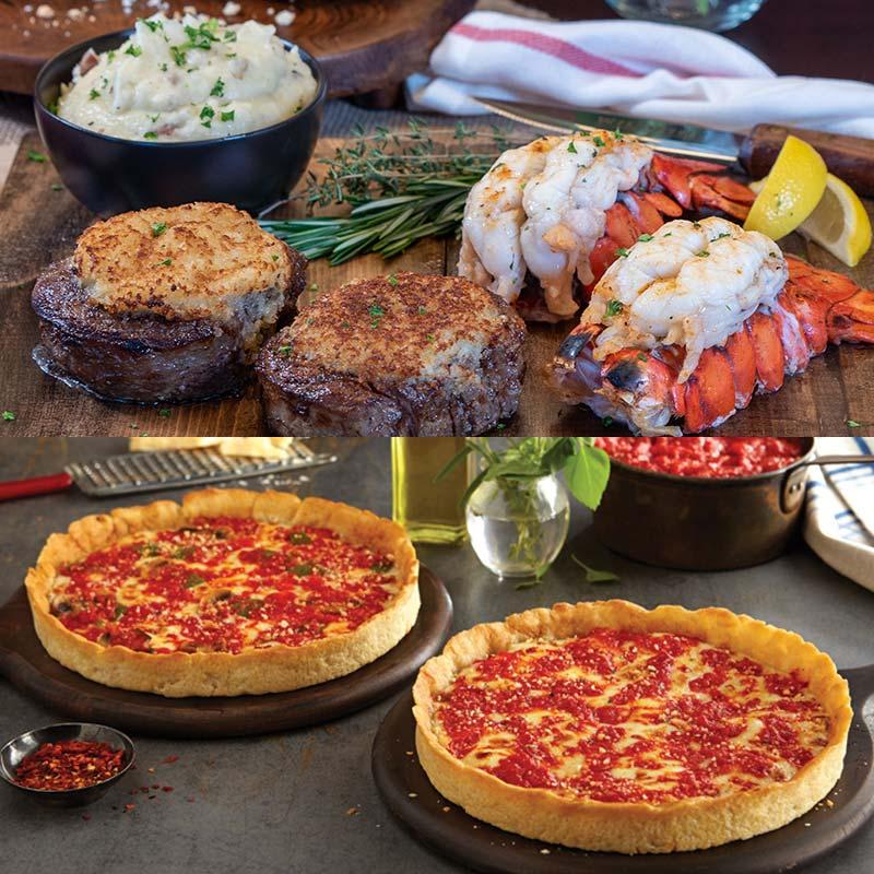 Wildfire Surf & Turf Kit & 2 Lou's Pizzas