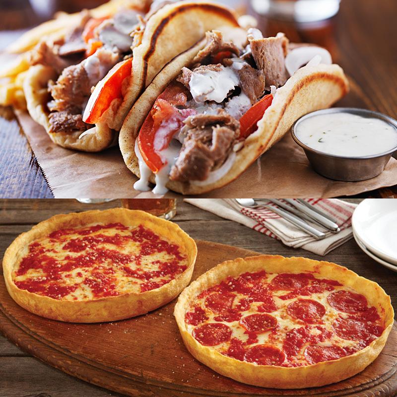 Devanco Foods Gyro Kit & 2 Lou's Pizzas