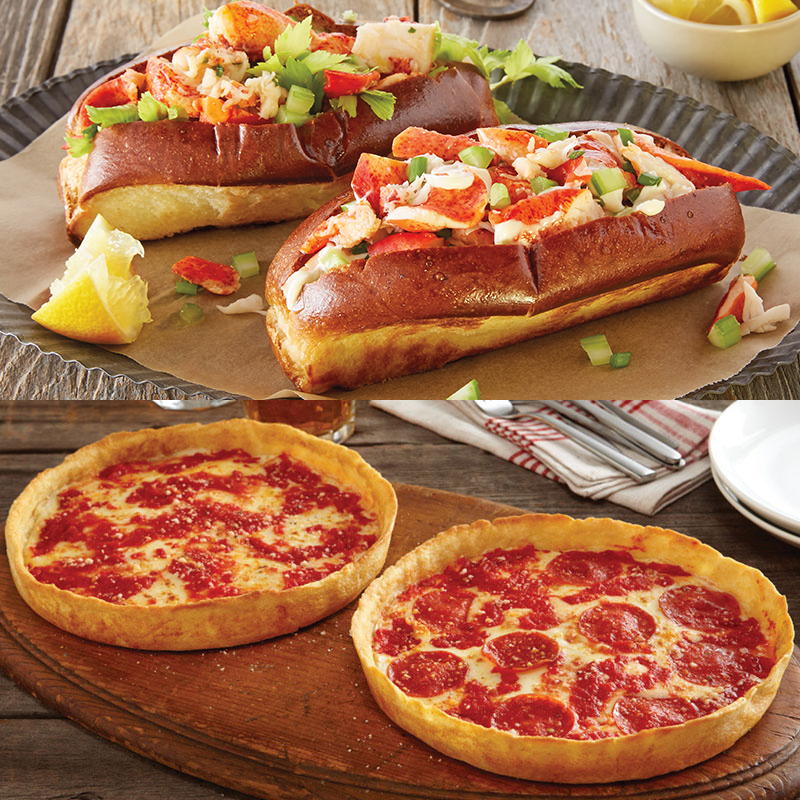 Shaw's Crab House Lobster Roll Kit & 2 Lou's Pizzas