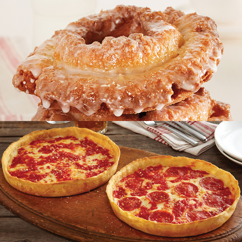 12 Do-Rite Donuts & 2 Lou's Pizzas