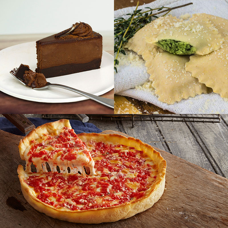 Perfect Pasta Gluten Free Ravioli, Death by Chocolate Flourless Cake & 2 Gluten Free Lou's Pizzas