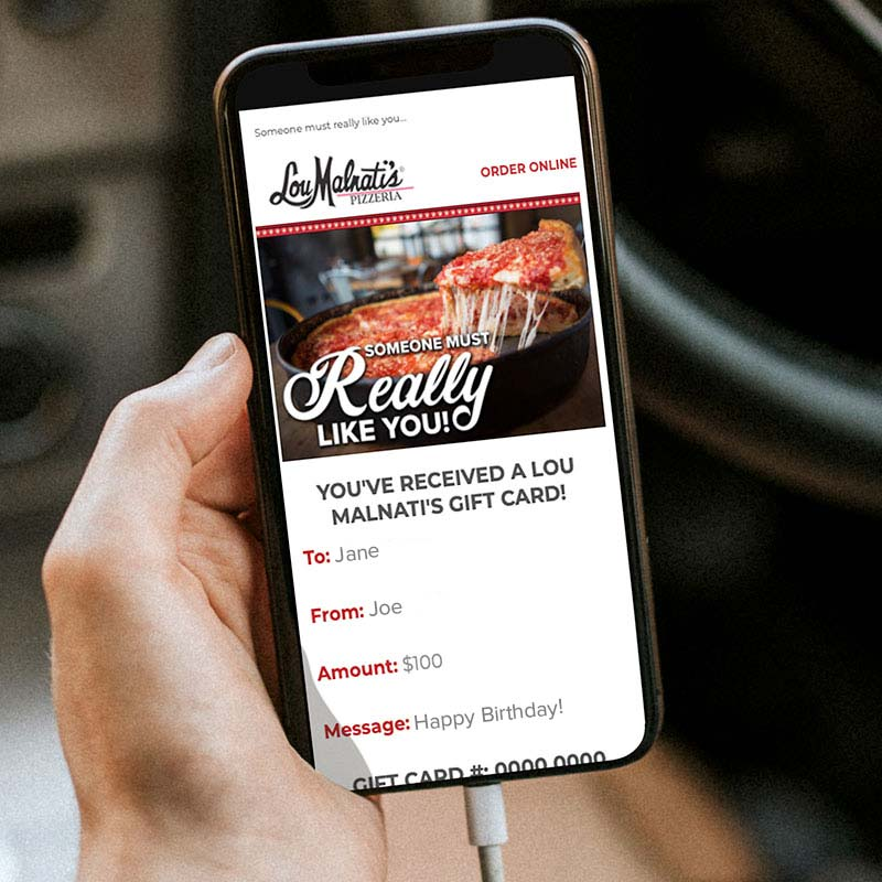 Lou Malnati's Email Gift Cards
