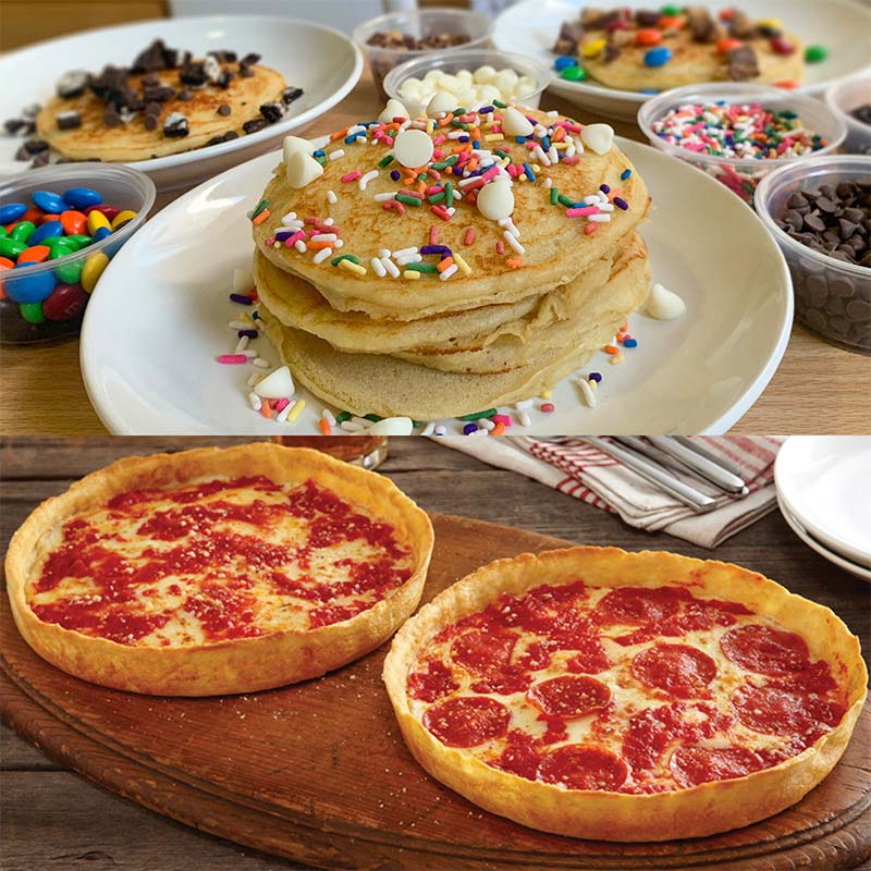 WynBurg Cafe DIY Pancake Kit & 2 Lou's Pizzas