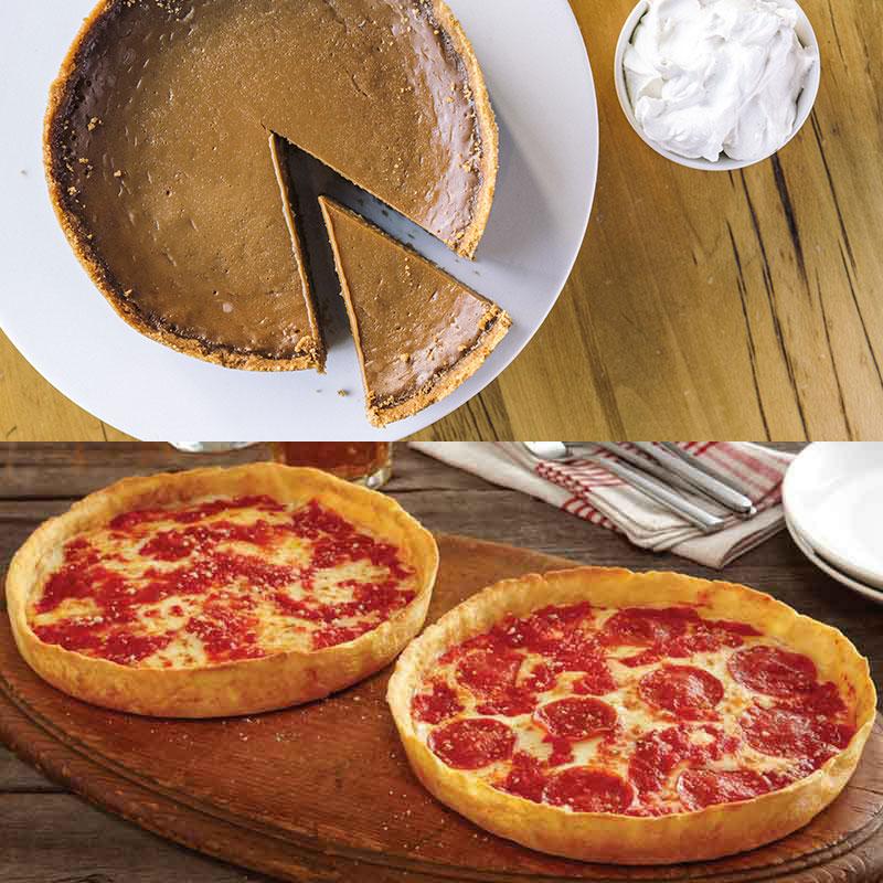 Beatrix Oh My! Caramel Pie & 2 Lou's Pizzas