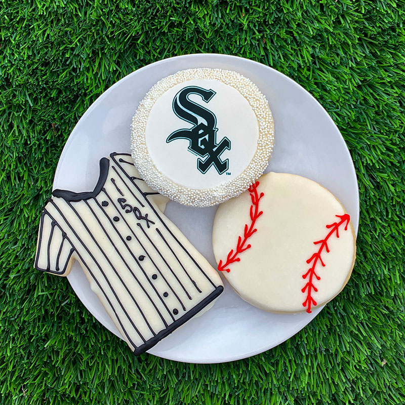 Deerfields Bakery Chicago White Sox Cookie Trio Add-on