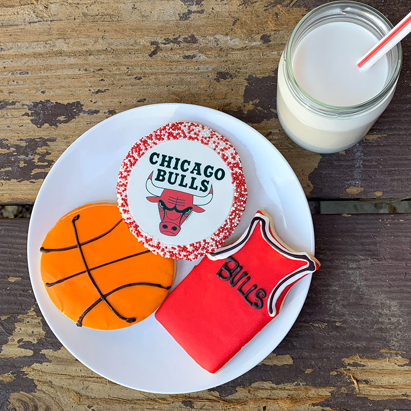 Deerfields Bakery Chicago Bulls Cookie Trio Add-on