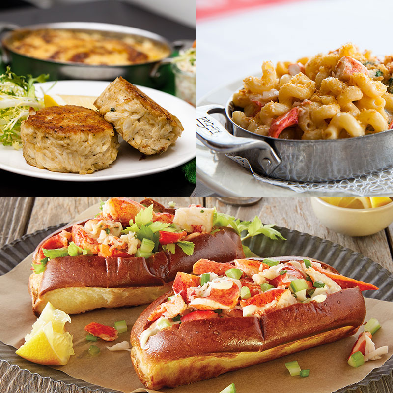 Shaw's Crab House Lobster Rolls, Lobster Mac, & Crab Cakes