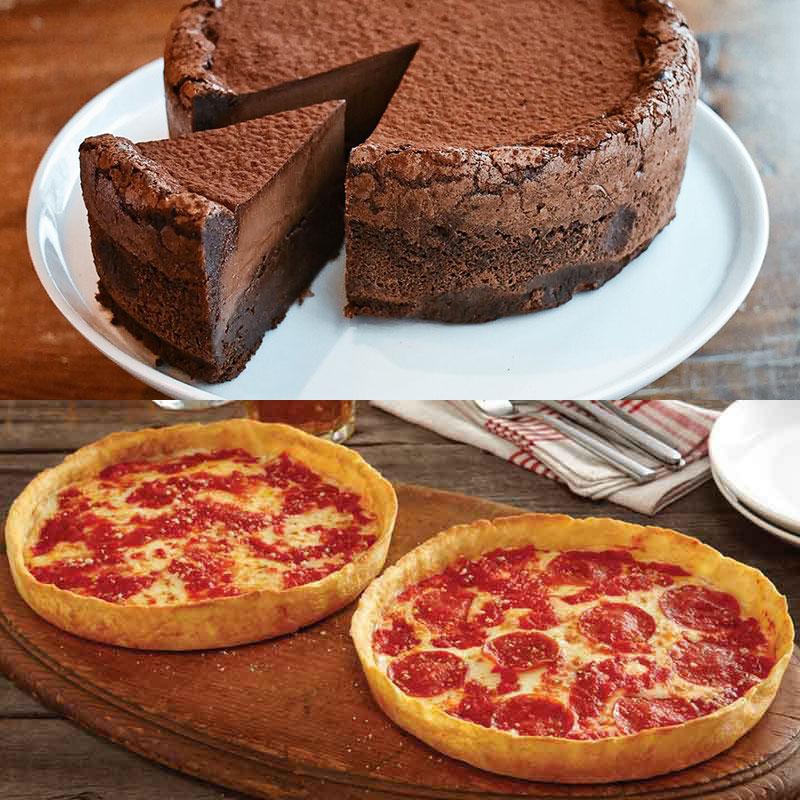 Beatrix Tall, Dark & Handsome Chocolate Cake & 2 Lou's Pizzas