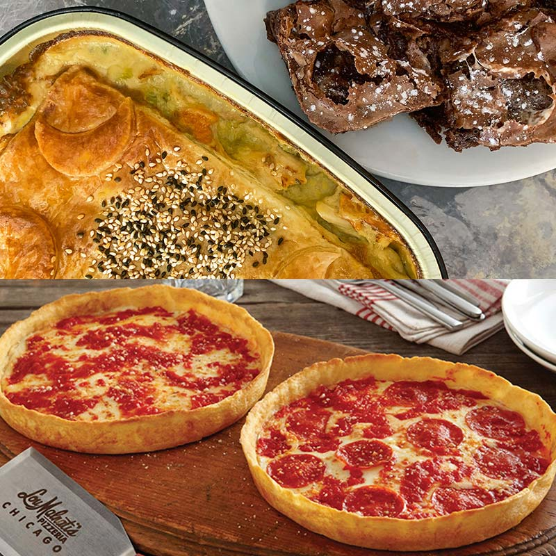 Wildfire Chicken Pot Pie, Gooey Marshmallow Brownies & 2 Lou's Pizzas