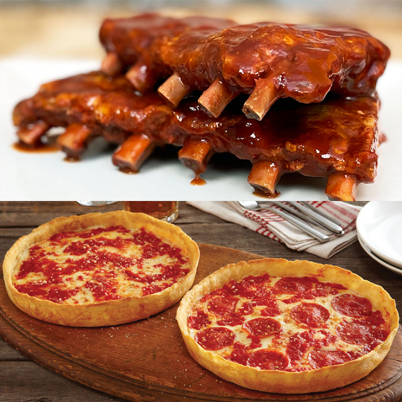 Twin Anchors Baby Back Ribs & 2 Lou's Pizzas