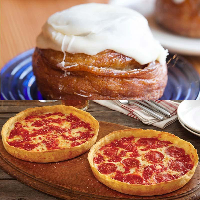 12 Beatrix Honey Butter Cinnamon Rolls, Coffee & 2 Lou's Pizzas