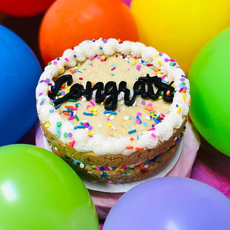 Sweet Thing Congrats Confetti Cookie Cake