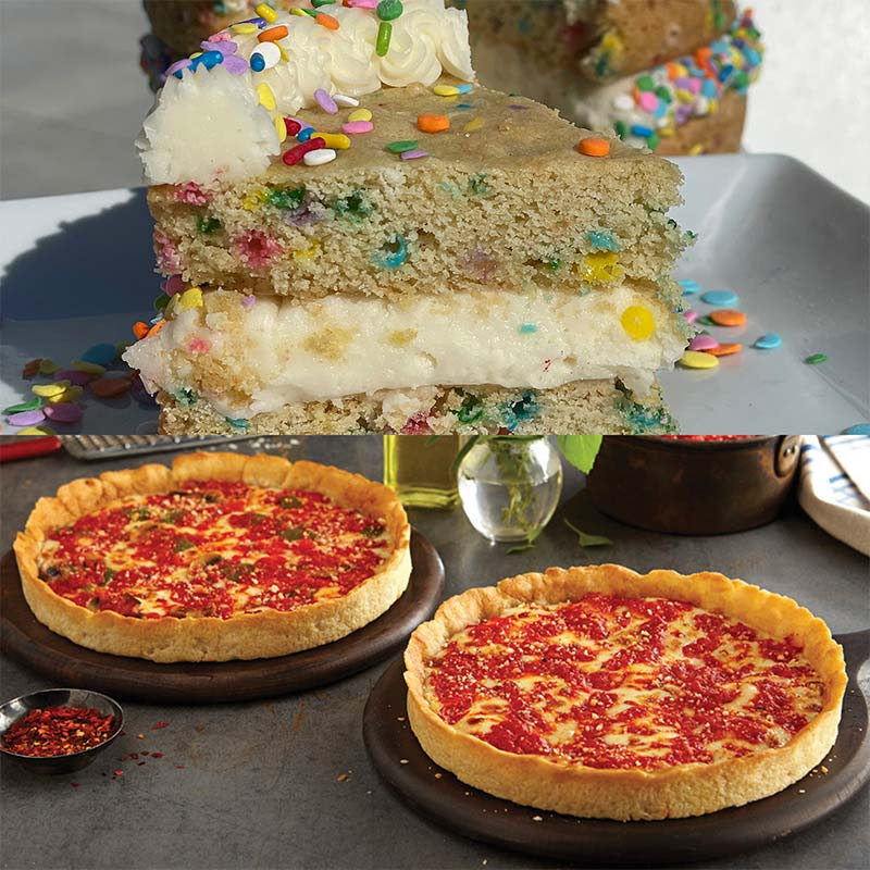 Sweet Thing Confetti Cookie Cake & 2 Lou's Pizzas