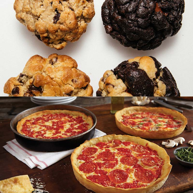 Big Fat Cookie Assorted 4 Pack & 3 Lou's Pizzas