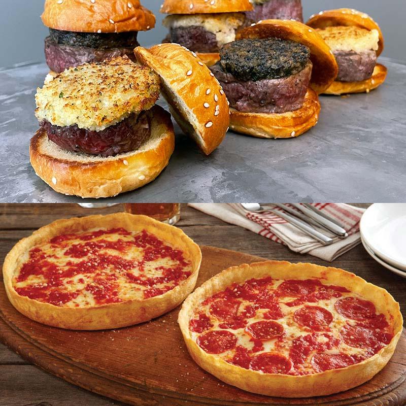 12 Wildfire Filet Mignon Sliders & 2 Lou's Pizzas