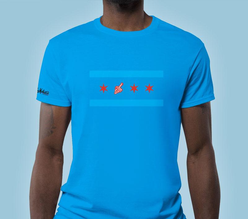 Lou Malnati's Chicago Flag T-Shirt