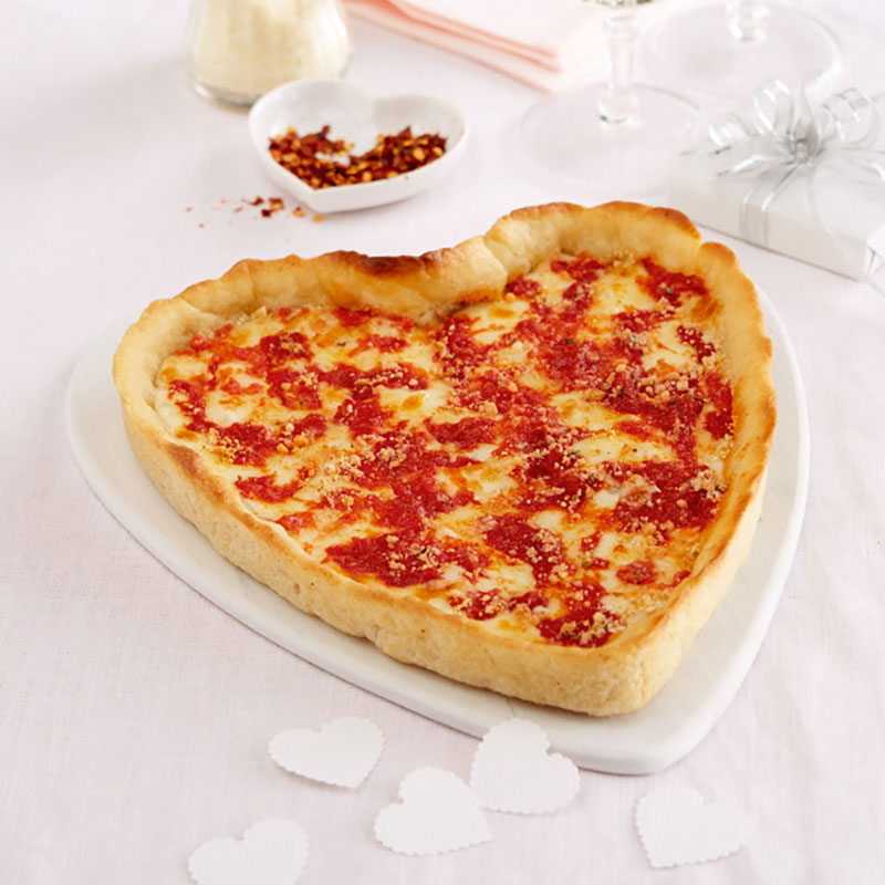 2 Pack (1 Heart Shaped and 1 Round) Lou Malnati's Pizza