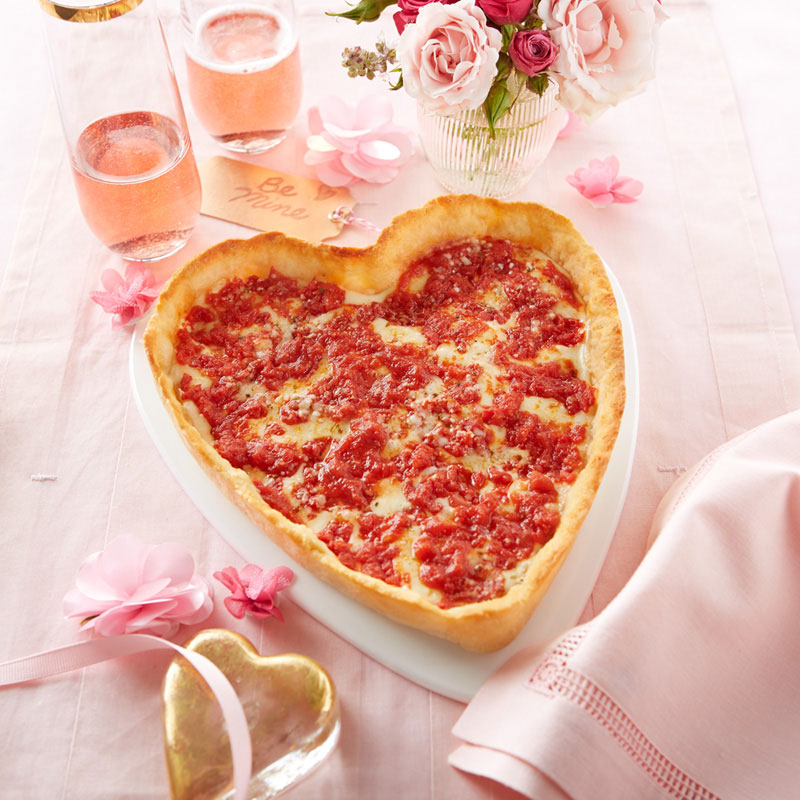 4 Pack (2 Heart Shaped and 2 Round) Lou Malnati's Pizzas