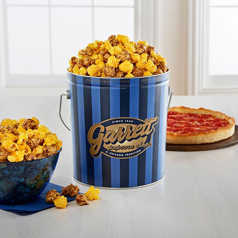 Garrett Popcorn Classic Tin & 2 Lou's Pizzas