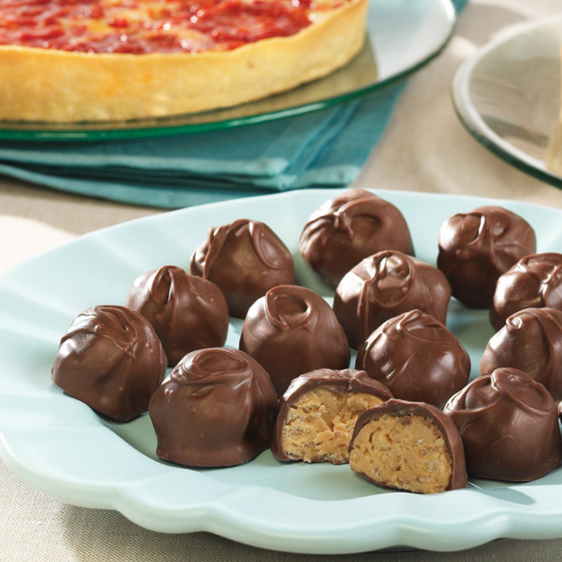 Kay's Peanut Butter Crunch Balls & 1 Lou's Pizza