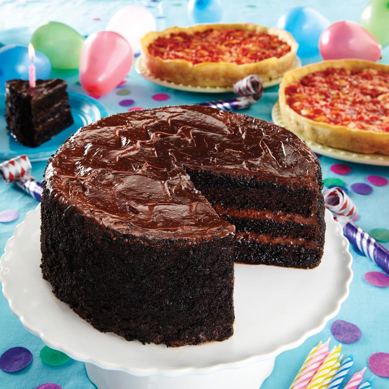Lezza Chocolate Birthday Cake & 2 Lou's Pizzas