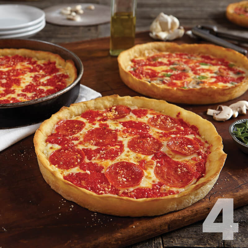 4 Lou Malnati's Deep Dish Pizzas