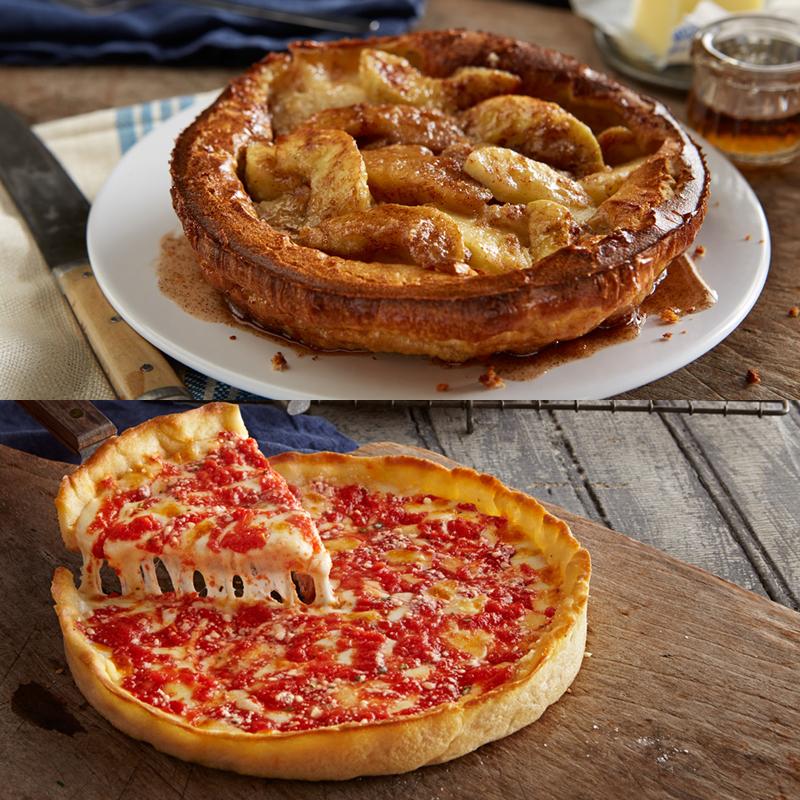 1 Apple Villa Apple Pancake & 1 Lou's Pizza