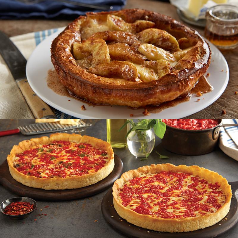 2 Apple Villa Apple Pancakes & 2 Lou's Pizzas