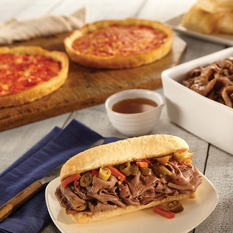 Vienna Italian Beef Kit & 2 Lou's Pizzas