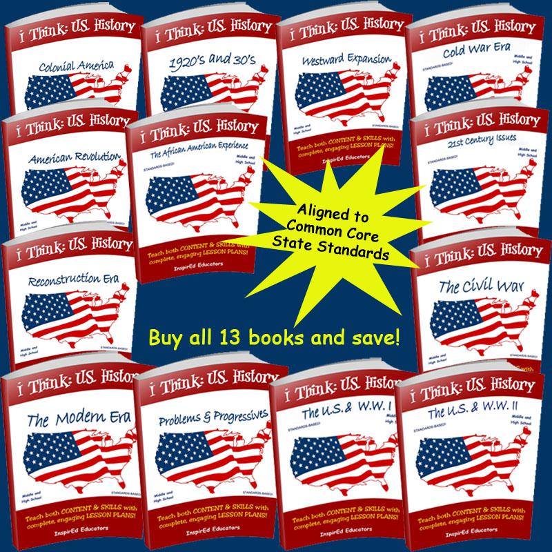 i Think: U.S. History Activity Book Set of 13