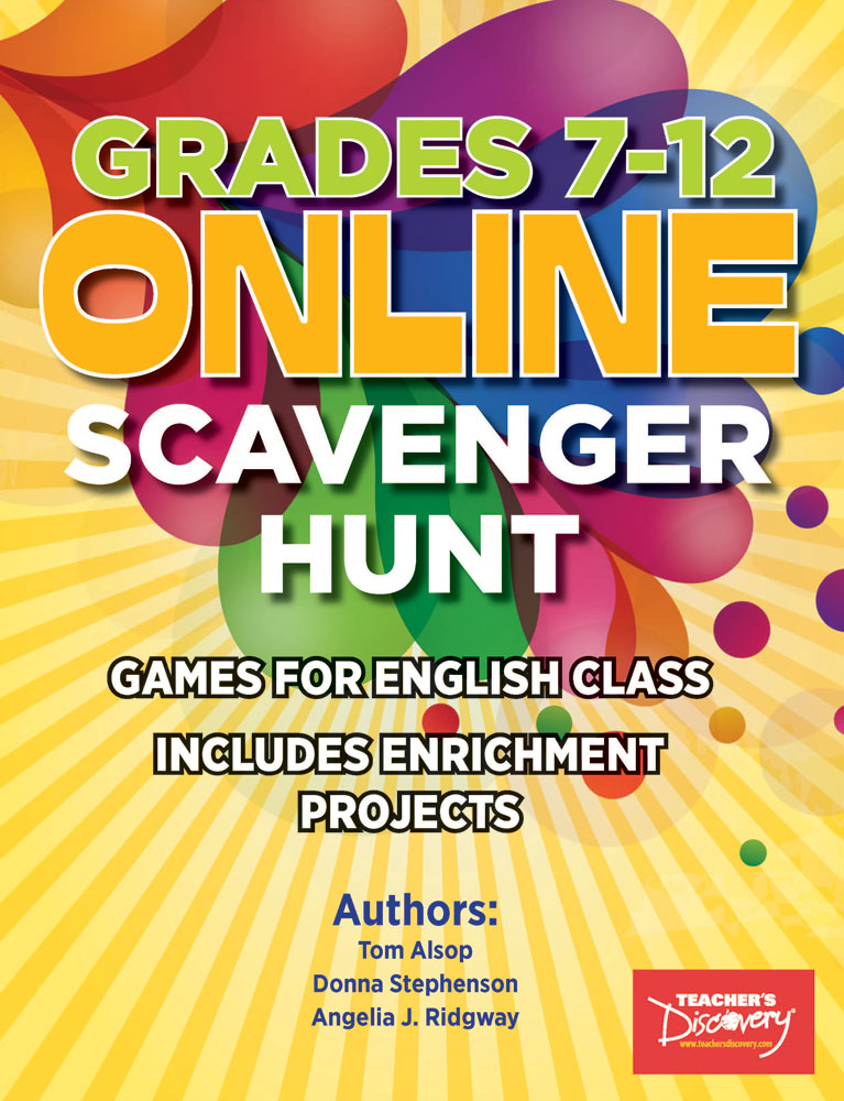 Online Scavenger Hunt Games for English Class Book - Online Scavenger Hunt Games for English Class Print Book