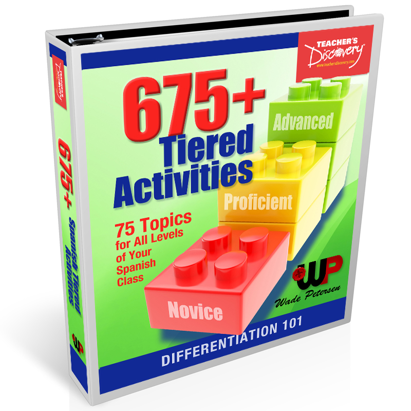 675+ Tiered Activities for Spanish Book
